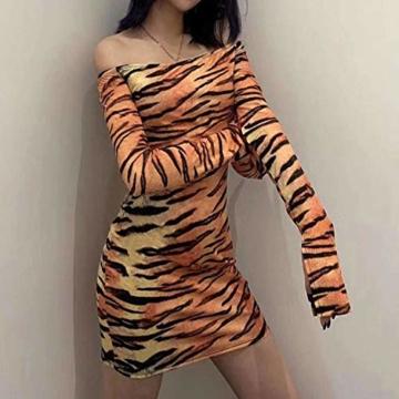 Langarm Partykleid Tiger-Look - 4