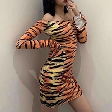 Langarm Partykleid Tiger-Look - 7