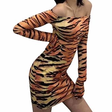 Langarm Partykleid Tiger-Look