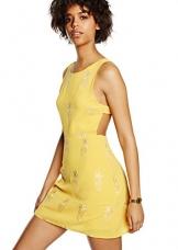 Pepa Loves Damen A-Linie Kleid, Gr. 34, Gelb - Jaune (Pineapple) -