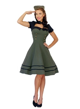 Pin Up Uniform Retro rockabilly Bolero SWING Kleid Petticoatkleid XL - 1