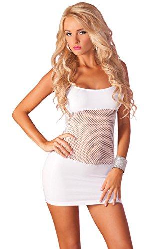 Pink Lipstick Partykleid 25016 weiß-36/38 - 1