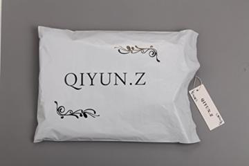 QIYUN.Z Damen Schwarz/Rotbraun Pu-Leder Furcal Kleidstickerei Backless Durchsichtigen Slim - 4