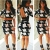 QIYUN.Z Sexy Frauen Mode Kurzen Ärmeln Bodycon Schlanke Neue Partei Club Mini-Kleid Hinten Offen Damen Kleid Jumpsuit Overall - 2