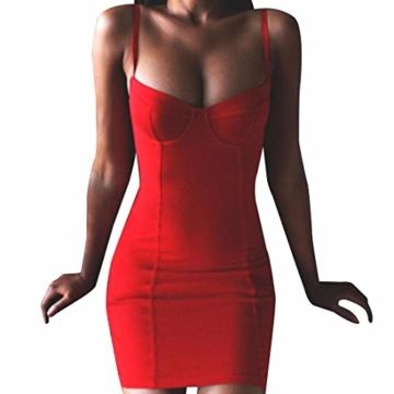 QIYUN.Z Sommer Kühl Halter Neck Sundress Frauen Bodycon Paket Hüfte Kurzes Kleid - 1