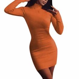 QUINTRA Frauen Sexy Rollkragen Club Bodycon Enges Minikleid Pullover Kleid - 1