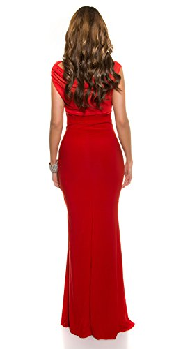 Red-Carpet-Look!Gala-kleid mit Strass rot -