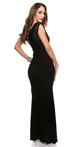 Red-Carpet-Look!Gala-kleid mit Strass schwarz -