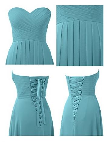 Remedios A-Linie Chiffon Brautjungfernkleider ballkleid Abendkleider Lang, #56 Türkis, 38 -