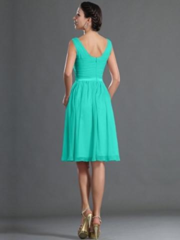 Remedios Chiffon Brautjungfernkleider A-Linie Kurz Knielangen Kleid Hochzeit,#88 Aqua-Blau,36 -