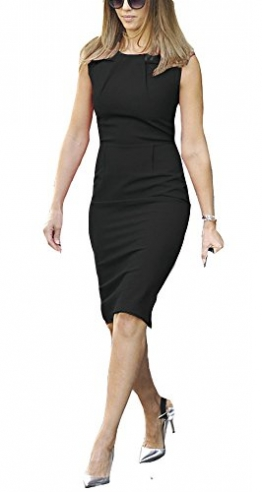 REPHYLLIS Damen Etuikleid Business Stretch Party Cocktail Pencil figurbetontes Kleid XL Schwarz -