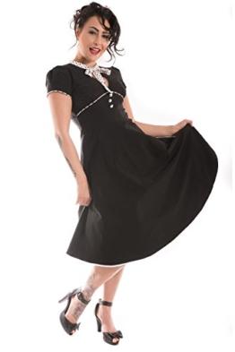 RETRO Rockabilly Polka Dots Petticoatkleid Swing Kleid Rückenfrei - 1