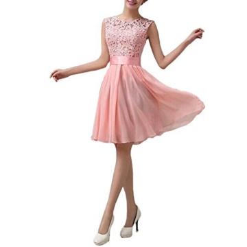 Romacci Damen Chiffon Spitze Kleid Sleeveless O Ansatz Normallack Elegante Prinzessin Party Kleid - 4