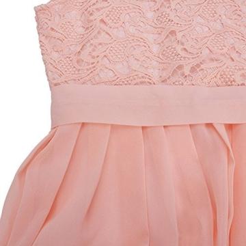 Romacci Damen Chiffon Spitze Kleid Sleeveless O Ansatz Normallack Elegante Prinzessin Party Kleid - 5