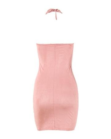 Romacci Damen Off Schulter Kleid Halter Crisscross Bandage Bodycon Kleid Party Clubwear - 3