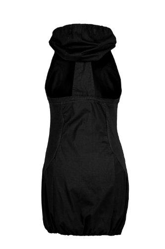 Rückenfreies Ballon Minikleid schwarz, Gr. S - 4