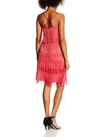 s.Oliver BLACK LABEL Damen Cocktail Kleid mit Fransen, Knielang, Gr. 38, Rosa (star berry 4521) -