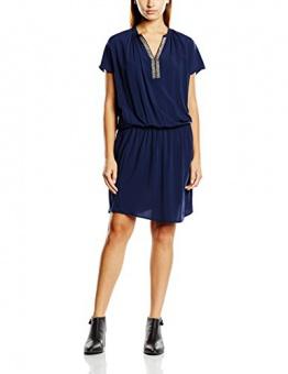 SAINT TROPEZ Damen Kleid N6010, Maxi, Gr. 34 (Herstellergröße: XS), Blau (B.Iris 9256) - 1