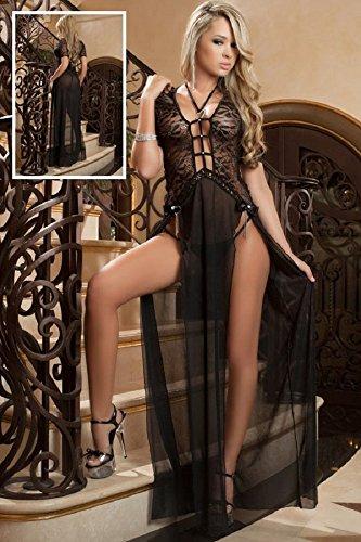 Saphira mode. Schwartz Luxe Delight Kleid - 2