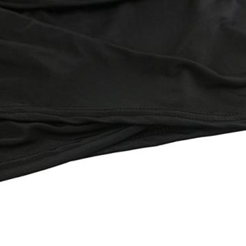 Sasairy Damen Sommer Sexy V-Neck ärmellos Irregulär Stretch Kurze Kleider Retro Cocktailkleid Party Clubwear Farbe-002:Schwarz,36 - 4