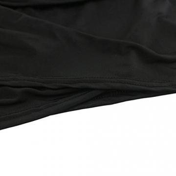 Sasairy Damen Sommer Sexy V-Neck ärmellos Irregulär Stretch Kurze Kleider Retro Cocktailkleid Party Clubwear Farbe-002:Schwarz,44 -
