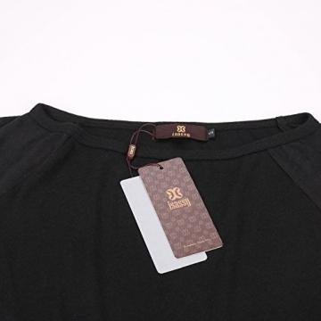 Schulterfreies langaermelig Mini Kleid Schwarz Gr. S 36-38 - 4