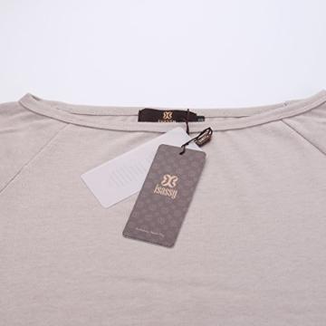 Schulterfreies langaermelig Mini Kleid Creme Gr. S 36-38 - 4