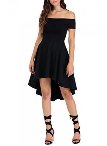 begehrteste Mode um 50 Prozent reduziert sehen Schwarzes Schulterfreies Kleid Cocktailkleid Asymmetrisch Abendkleid  Festlich