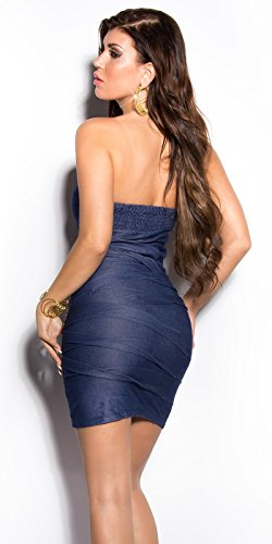 Sexy Bandeau Kleid mit Nieten im Jeans-Look Koucla by In-Stylefashion SKU 0000ISF882203 - 2