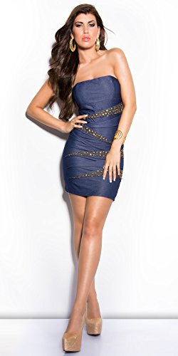 Sexy Bandeau Kleid mit Nieten im Jeans-Look Koucla by In-Stylefashion SKU 0000ISF882203 - 5