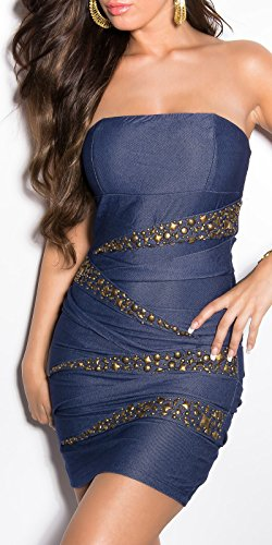 Sexy Bandeau Kleid mit Nieten im Jeans-Look Koucla by In-Stylefashion SKU 0000ISF882203 - 7