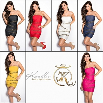 Sexy Bandeau Kleid mit Nieten im Jeans-Look Koucla by In-Stylefashion SKU 0000ISF882203 - 8