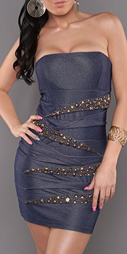 Sexy Bandeau Kleid mit Nieten im Jeans-Look Koucla by In-Stylefashion SKU 0000ISF882203 - 9