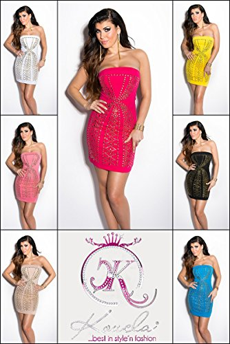 Sexy Bandeau-minidress with studs Koucla by In-Stylefashion SKU 0000ISF62007506 - 7