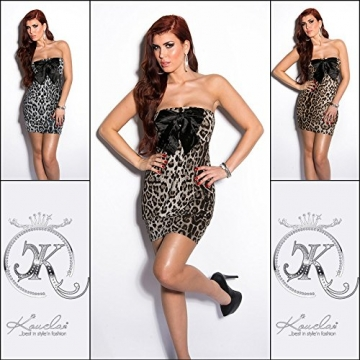 Sexy Bandeau Partydress with Loop in Leolook Koucla by In-Stylefashion SKU 0000B001203 - 8
