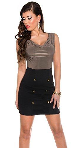 Sexy Business Kleid mit Wasserfall-Ausschnitt Koucla by In-Stylefashion SKU 0000KIS6102 - 1