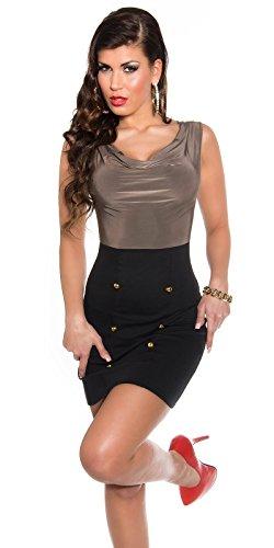Sexy Business Kleid mit Wasserfall-Ausschnitt Koucla by In-Stylefashion SKU 0000KIS6102 - 4