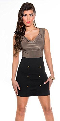 Sexy Business Kleid mit Wasserfall-Ausschnitt Koucla by In-Stylefashion SKU 0000KIS6102 - 6