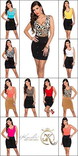 Sexy Business Kleid mit Wasserfall-Ausschnitt Koucla by In-Stylefashion SKU 0000KIS6102 - 7