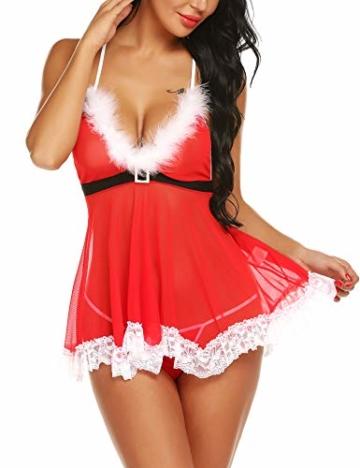 Sexy Dessous-Set Weihnachten Rot, Christmas Unterwäsche 1