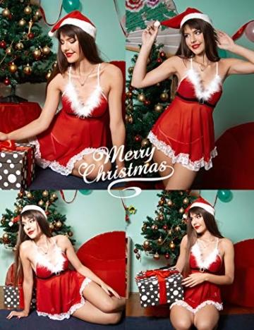 Sexy Dessous-Set Weihnachten Rot, Christmas Unterwäsche 2