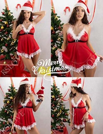 Sexy Dessous-Set Weihnachten Rot, Christmas Unterwäsche 6