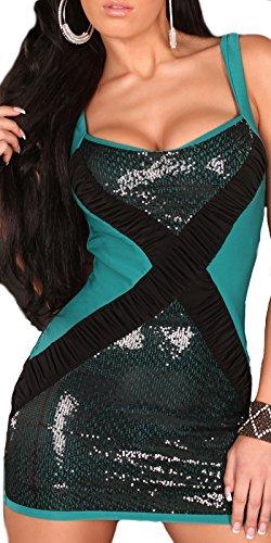 Sexy Disco Kleid mit Paillettten / Farbe: Saphir, Größe: Einheitsgröße Koucla by In-Stylefashion SKU 0000K8042103 - 1