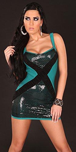 Sexy Disco Kleid mit Paillettten / Farbe: Saphir, Größe: Einheitsgröße Koucla by In-Stylefashion SKU 0000K8042103 - 2