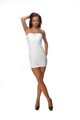 SeXy eng anliegendes MINIKLEID Kleid weiß -