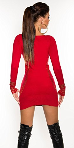 Sexy Feinstrick-Longpulli/Minikleid Kim K. Look Koucla by In-Stylefashion SKU 0000F07107 - 2