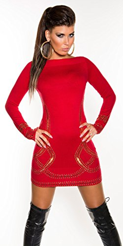 Sexy Feinstrick-Longpulli/Minikleid Kim K. Look Koucla by In-Stylefashion SKU 0000F07107 - 5