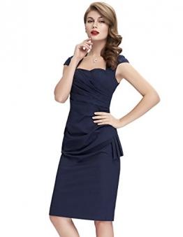 Sexy Frauen Sommerkleid festliches Kleid Business Ballkleid Navyblau 40 -