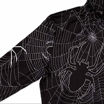 Sexy Halloween Kleid mit Spinnen und Spinnennetz 3