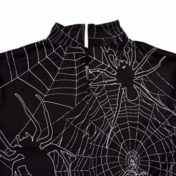 Sexy Halloween Kleid mit Spinnen und Spinnennetz 5